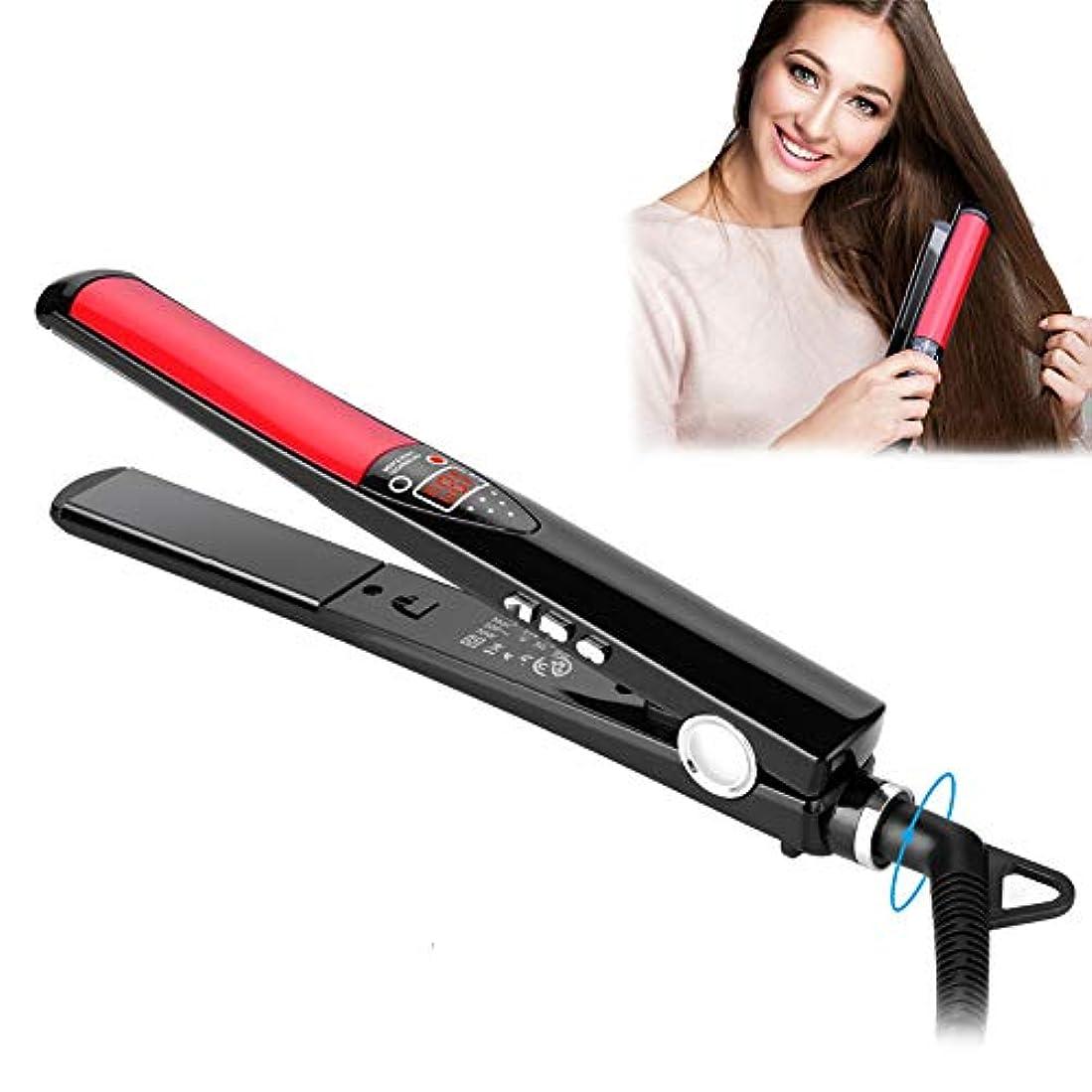休みピニオンフラフープ専門の毛のストレートナの平らな鉄の陰イオンの直毛の温度の調節可能な速い温度の二重電圧乾湿両方