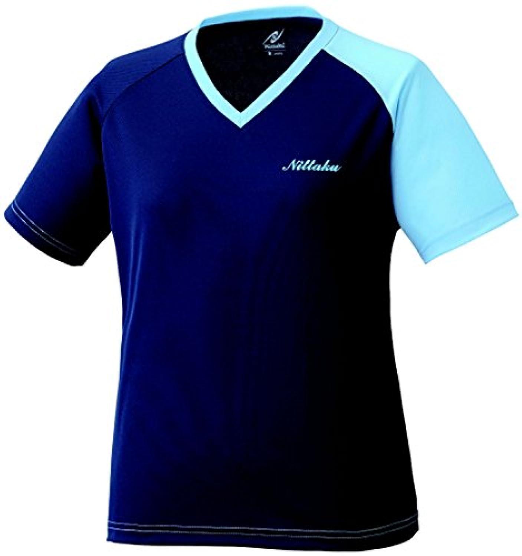 ニッタク(Nittaku) レディース 卓球 VNT Tシャツ NX2079 ネイビー×ブルー(01)