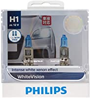 Philips White Vision H1 12V globes - twin display pack