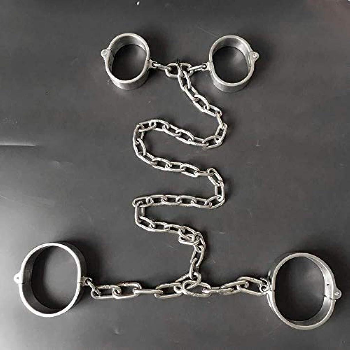 自発的収束する粘性のLIRIDP マッサージスティック 火災手錠、足のアイロン、ネジはステンレス鋼SM大人スレーブボンデージフェチボンデージ手錠の足首を開きます (Size : Female)