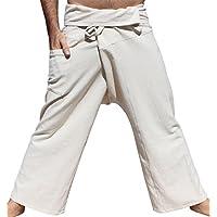 RaanPahMuang Brand Plain Thicker Muang Cotton Fisherman Wrap Pants