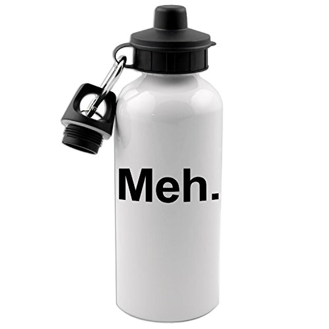 守る開業医脳Meh 20オンス ホワイトアルミニウムウォーターボトル