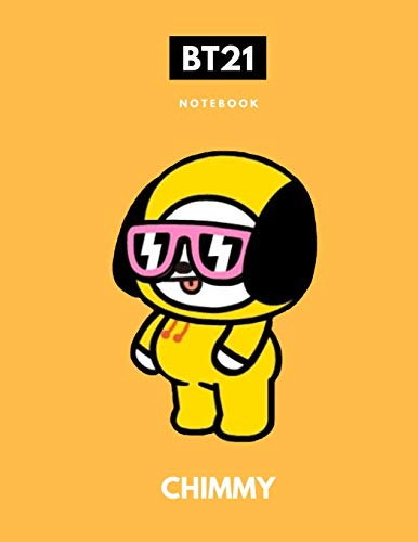 Download BTS BT21 CHIMMY KPOP NOTEBOOK: Back to School Wide Ruled Composition Journal for Students 1795101288
