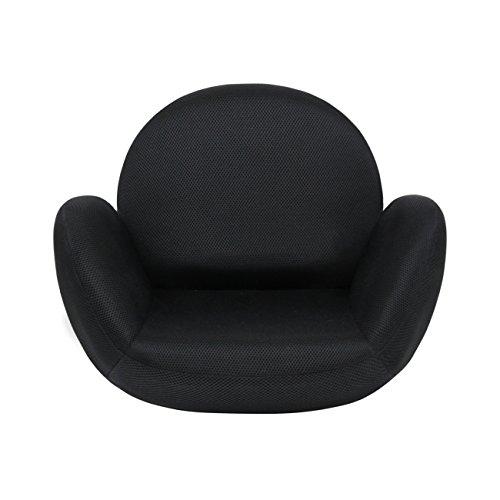 tegopo 座椅子 腰痛 コンパクト メッシュタイプ 6段階調節 リクライニング 骨盤 幅55cm 奥44cm 高41cm TZ001-M1 ブラック色