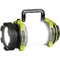 LE USB充電 LEDサーチライト 懐中電灯 作業灯 2600mAh電池内蔵 明るさ最大500ルーメン 調光機能 USBケーブル付き 防水 アウトドア キャンプ 登山 釣り クライミング 緊急
