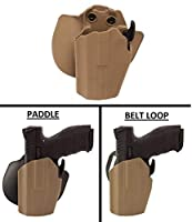 Ultimate Arms Gearホルスター1911Wilson Combat Kimber grip-locking multi-fitシステムLongフレームパドル&ベルトLeft Hand , Flat Dark Earth