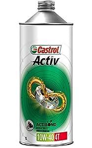 CASTROL(カストロール) エンジンオイル Activ 4T 10W-40 MA 部分合成油 二輪車4サイクルエンジン用 1L [HTRC3]