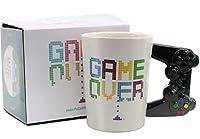13オンス コーヒー Mlik Tea セラミックマグカップ 面白い ノベルティ ゲーム オーバーデザイン 誕生日ギフト ボーイフレンド、友人、男の子用