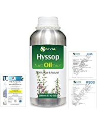 Hyssop (Hyssopus officinalis) 100% Natural Pure Essential Oil 2000ml/67 fl.oz.