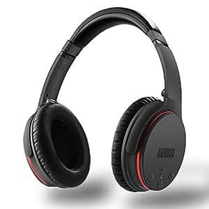 August 超軽量 ワイヤレスヘッドホン ANC ノイズキャンセリングヘッドフォン aptX対応遅延無し マイク付き 折りたたみ式 (EP735)