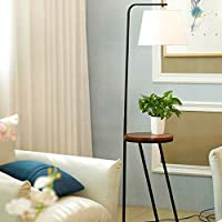 北欧スタイルのコーヒーテーブルフロアランプのリビングルームのベッドルームのソファベッドサイドストレージ北欧のシンプルでモダンな木製のランプ-413(色:B)