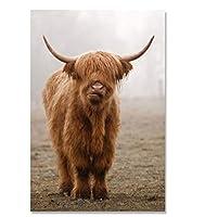 牛ポスター画像リビングルームホームポスター壁アートキャンバス絵画北欧ポスター壁の装飾40×60センチ×31