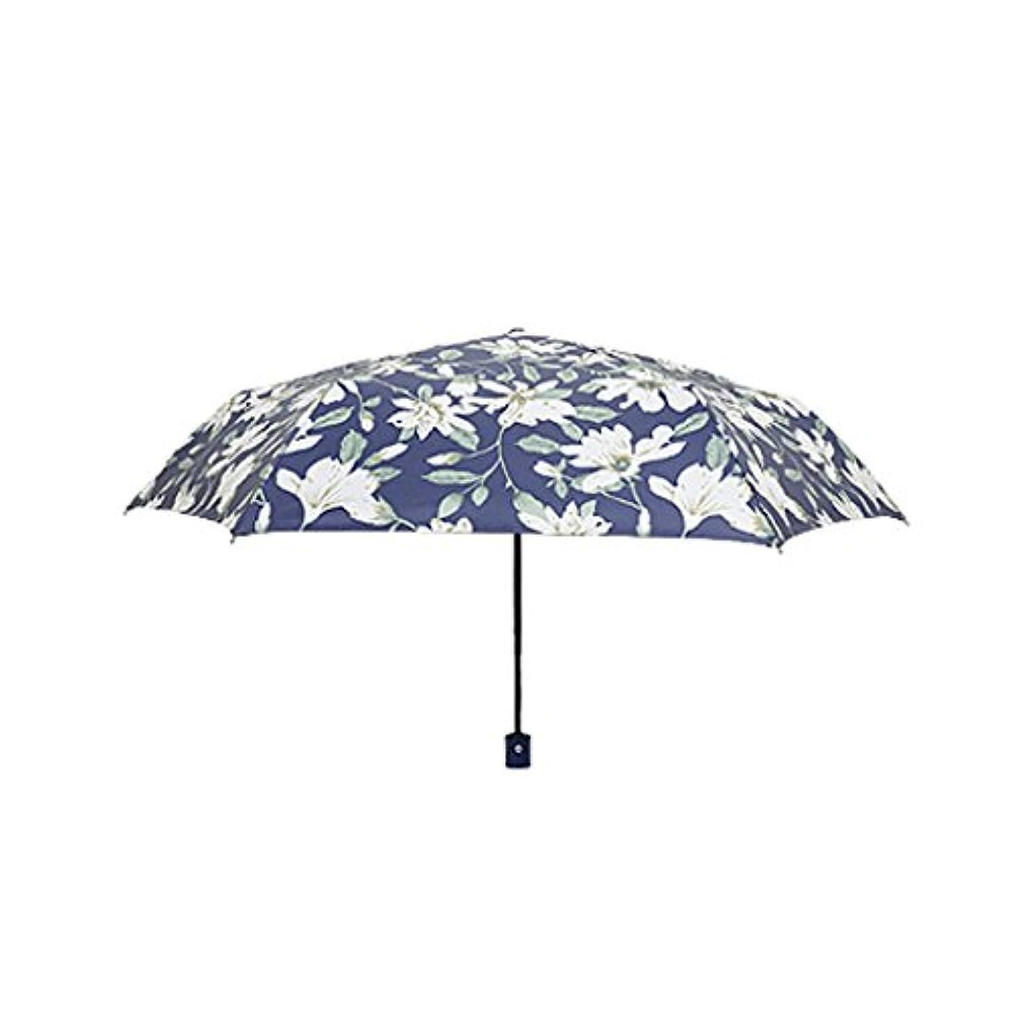 ひどい考古学的な熱帯の旅行用傘 コンパクト旅行傘 - パラソル日傘ポータブル折りたたみ傘サンシェード抗紫外線高速乾燥防風旅行傘 - 自動開閉ボタン UVカット