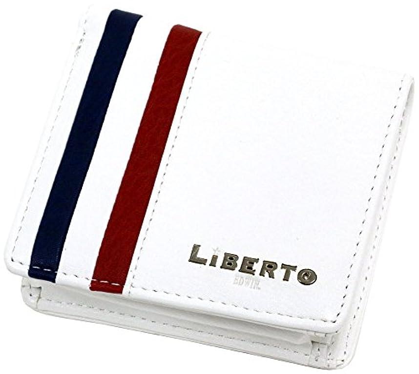 後方民主主義める[リベルト エドウィン] 財布 二つ折り財布 ボックス型小銭入れ トリコロール メンズ