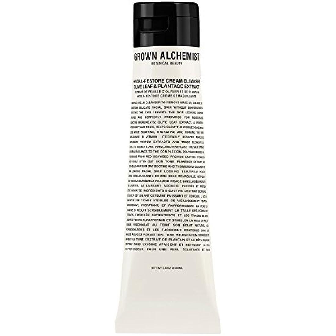 未使用タオルゴムオリーブの葉&Plantogoエキス、100ミリリットル:成長した錬金術師クリームクレンザーをヒドラ復元 (Grown Alchemist) - Grown Alchemist Hydra-Restore Cream Cleanser...