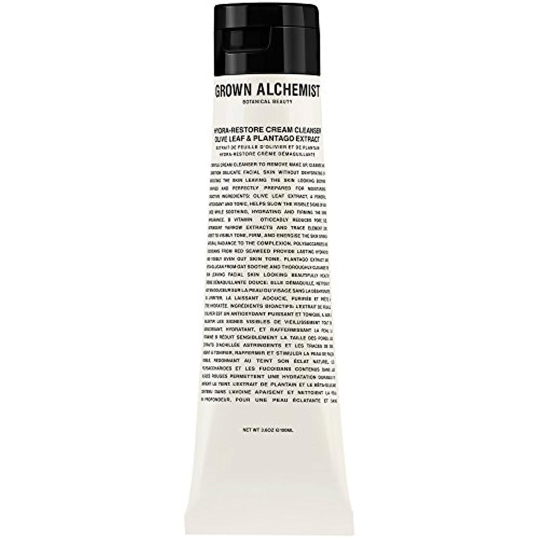 タイピスト不適縫い目オリーブの葉&Plantogoエキス、100ミリリットル:成長した錬金術師クリームクレンザーをヒドラ復元 (Grown Alchemist) (x2) - Grown Alchemist Hydra-Restore Cream Cleanser: Olive Leaf & Plantogo Extract, 100ml (Pack of 2) [並行輸入品]