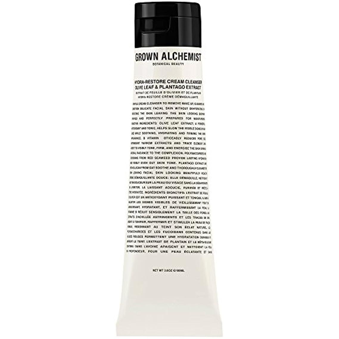 空白捕虜拍手オリーブの葉&Plantogoエキス、100ミリリットル:成長した錬金術師クリームクレンザーをヒドラ復元 (Grown Alchemist) - Grown Alchemist Hydra-Restore Cream Cleanser...