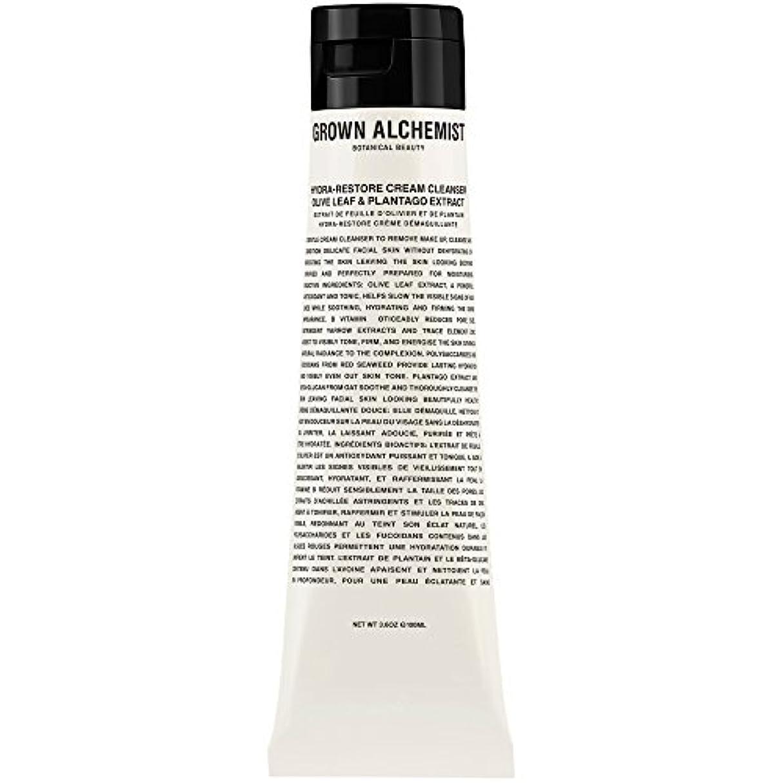 混乱強風ところでオリーブの葉&Plantogoエキス、100ミリリットル:成長した錬金術師クリームクレンザーをヒドラ復元 (Grown Alchemist) (x6) - Grown Alchemist Hydra-Restore Cream...