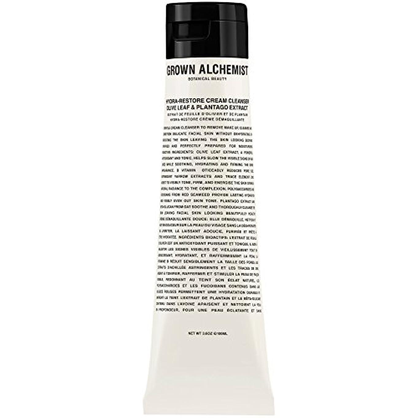 鷹石灰岩ラベルオリーブの葉&Plantogoエキス、100ミリリットル:成長した錬金術師クリームクレンザーをヒドラ復元 (Grown Alchemist) - Grown Alchemist Hydra-Restore Cream Cleanser...