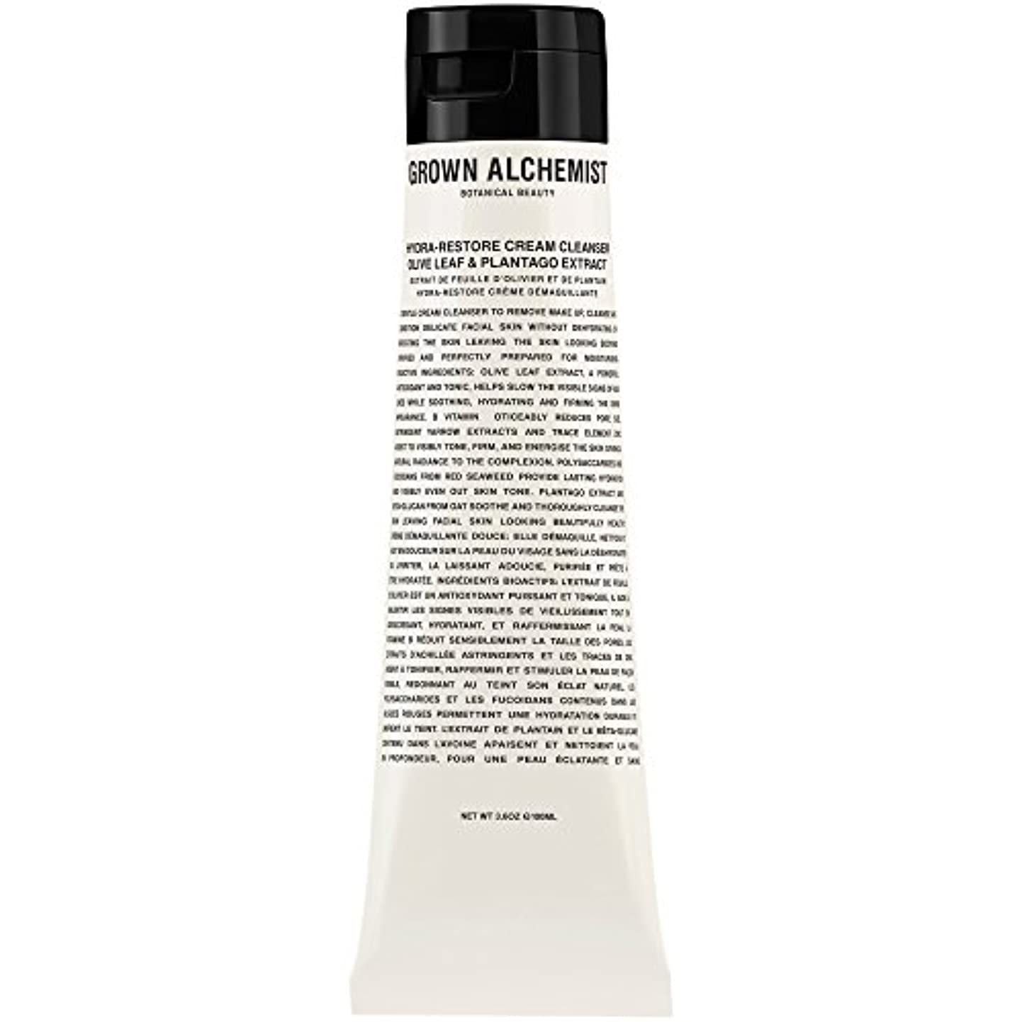 解決マスク有効なオリーブの葉&Plantogoエキス、100ミリリットル:成長した錬金術師クリームクレンザーをヒドラ復元 (Grown Alchemist) - Grown Alchemist Hydra-Restore Cream Cleanser...