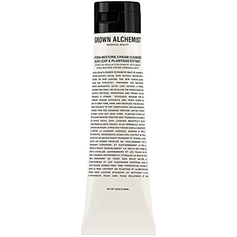 暗くする不信永遠のオリーブの葉&Plantogoエキス、100ミリリットル:成長した錬金術師クリームクレンザーをヒドラ復元 (Grown Alchemist) (x6) - Grown Alchemist Hydra-Restore Cream...