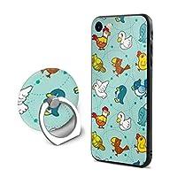 可愛い鳥iPhone 7/8 ケース リング付き 人気 スタンド機能 ソフト 薄い 携帯カバー アイフォン 7/8 ケース