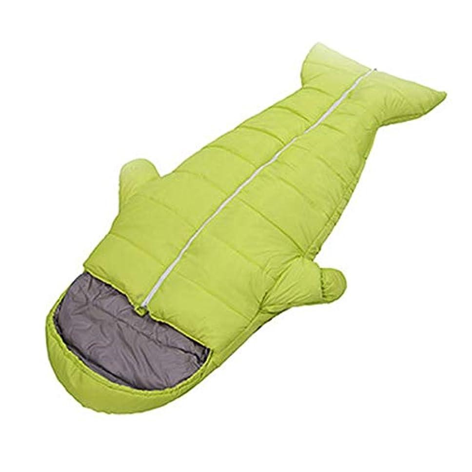 印象的な正しく燃料ZXF 屋外の寝袋大人の創造的な寝袋肥厚秋と冬の屋内暖かい超軽量ポータブルキャンプペンギン寝袋 暖かくて快適です (色 : Green, Size : 1.5kg)