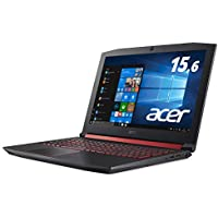 Acer Nitro ゲーミングノートパソコン AN515-52-F58GA(Core i5-8300H/8GB/1TB+16GB Optane/GTX1050/ドライブ無/15.6型/Win10/ブラック)