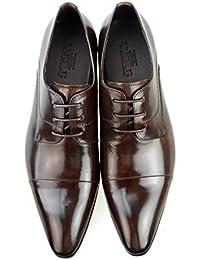 [ルシウス] LUCIUS ドレスシューズ 靴 レザー 本革 紳士靴 ビジネスシューズ ビジネス シューズ ロングノーズ レースアップ 【AZ383B】