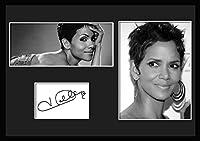 10種類! ハル・ベリー/Halle Berry /サインプリント&証明書付きフレーム/BW/モノクロ/ディスプレイ/3W (08) [並行輸入品]