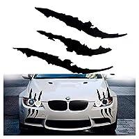X Xotic TechビニールヘッドライトテールライトClaw Scarスクラッチデカールモンスターストライプ装飾ステッカーブラック/グリーン/レッド/シルバー ブラック #ST137BK