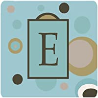 "Caroline 's Treasures cj1013-efc monogram-blueドットFoam Coasters ( Set of 4)、初期文字E、3.5"" H x 3.5"" W ,マルチカラー"