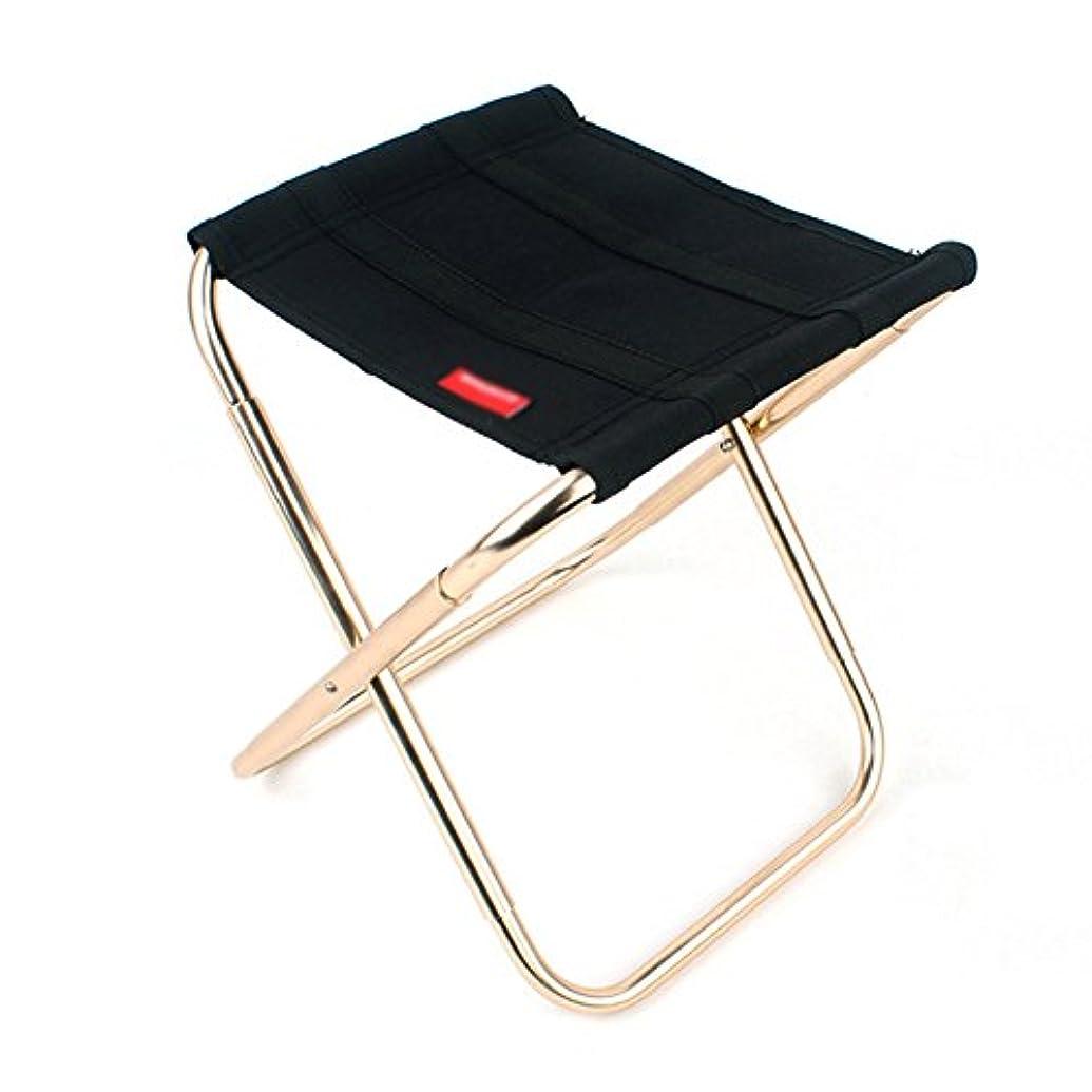 ポーチ勇気のある対応するZGL 旅行椅子 アウトドアフォールドチェアアルミ合金キャンプ釣りチェアポータブルトレインスツールキャンプマツザ折り畳みスツールブラック