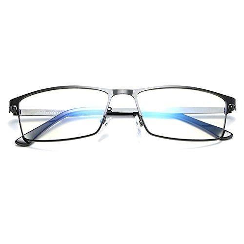 [FREESE] ブルーライトカット メガネ 超軽量 PCメガネ パソコン用 伊達メガネ スクエア クロス&眼鏡ケース (ブライトブラック)