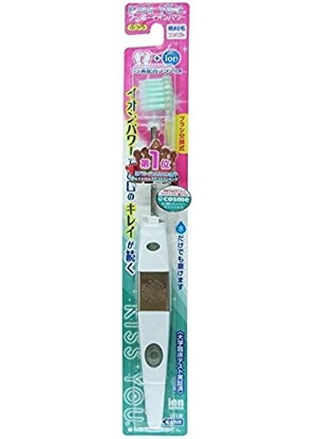 意味のあるファッション前文フッ素イオン歯ブラシ極細コンパクト本体ふつう × 10個セット