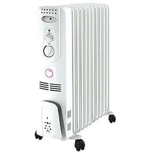 ΛzICHI オイルヒーター 強力10枚フィン 24時間タイマー 自動温度調節機能 (4~10畳用) OIL-001