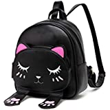 Best Kids Toddler Backpack For Girls Cat Cartoon School Bag Cat Backpack by Ozmeow - Small and Stylish - Will Fit Ipad, Small Books and Wallet - Perfect for School, Travelling, and a Holiday Weekend Bag.