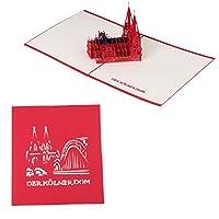 Biuuu 3Dポップアップ紙グリーティングカード教会バレンタイン記念日の招待状手作り