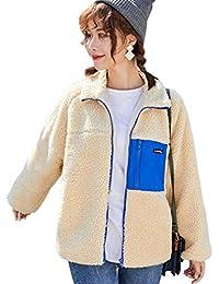 NANNRE レディース ボア ジャケット ブルゾン アウターコート ボアブルゾン ボアコート もこもこ ゆったり 暖かい 冬 防寒 長袖 冬 カジュアル
