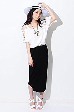(エゴイスト) EGOIST ラウンドヘムカットロングスカート