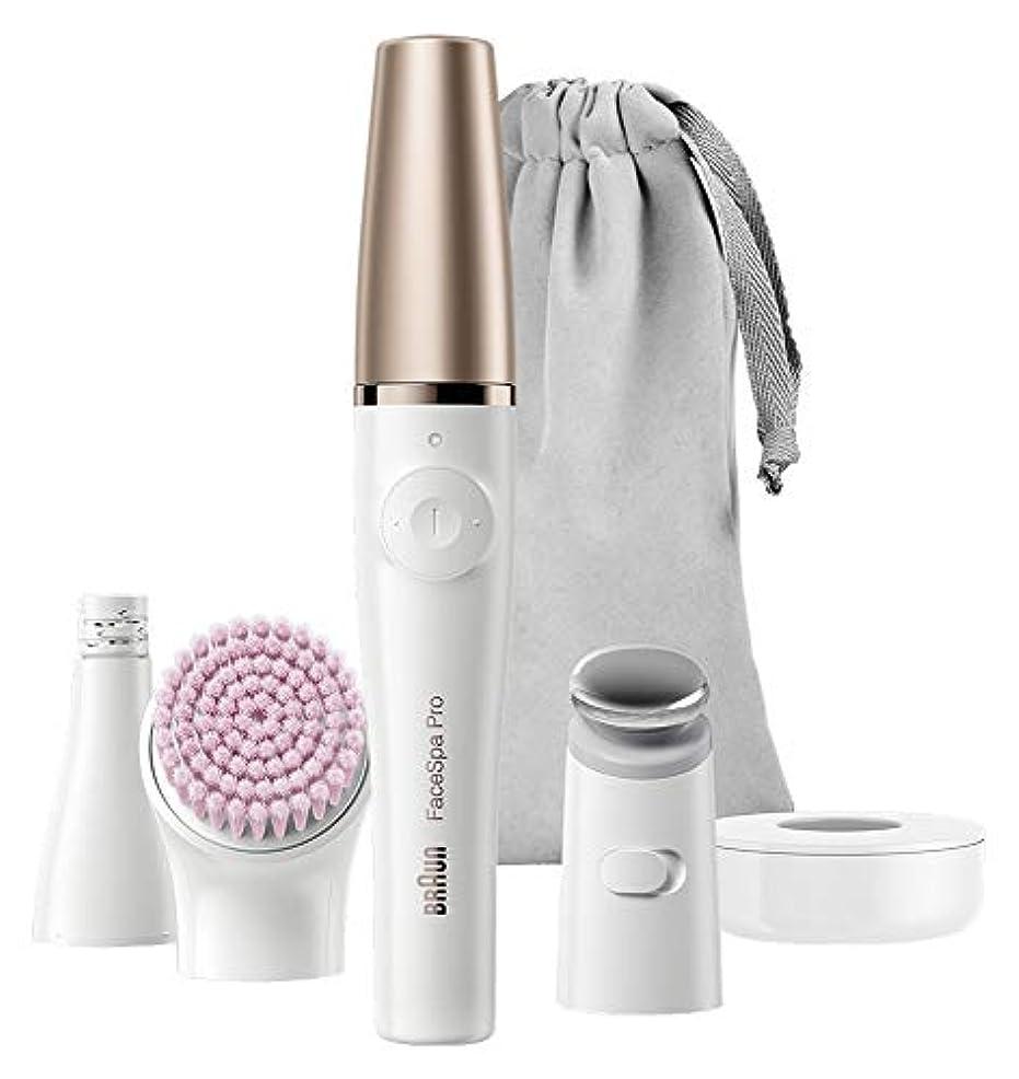 香水世紀鏡ブラウン 顔用脱毛器 ブラウンフェイス マイクロタッピングヘッド/洗顔ブラシ付 ホワイト SE912 SE912