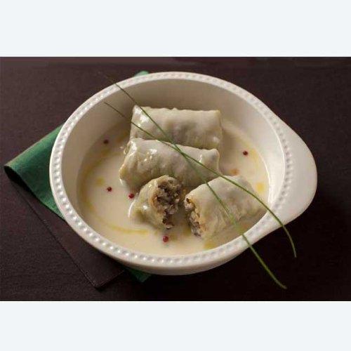 ポストカード・レシピ 07 玄米とレンティルの白菜ロール