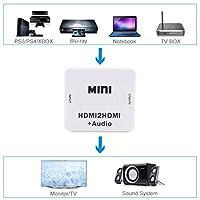 H HILABEE HDMI → HDMIビデオコンバータ R/L アナログオーディオアダプタ 1080P HDMI1.3サポート