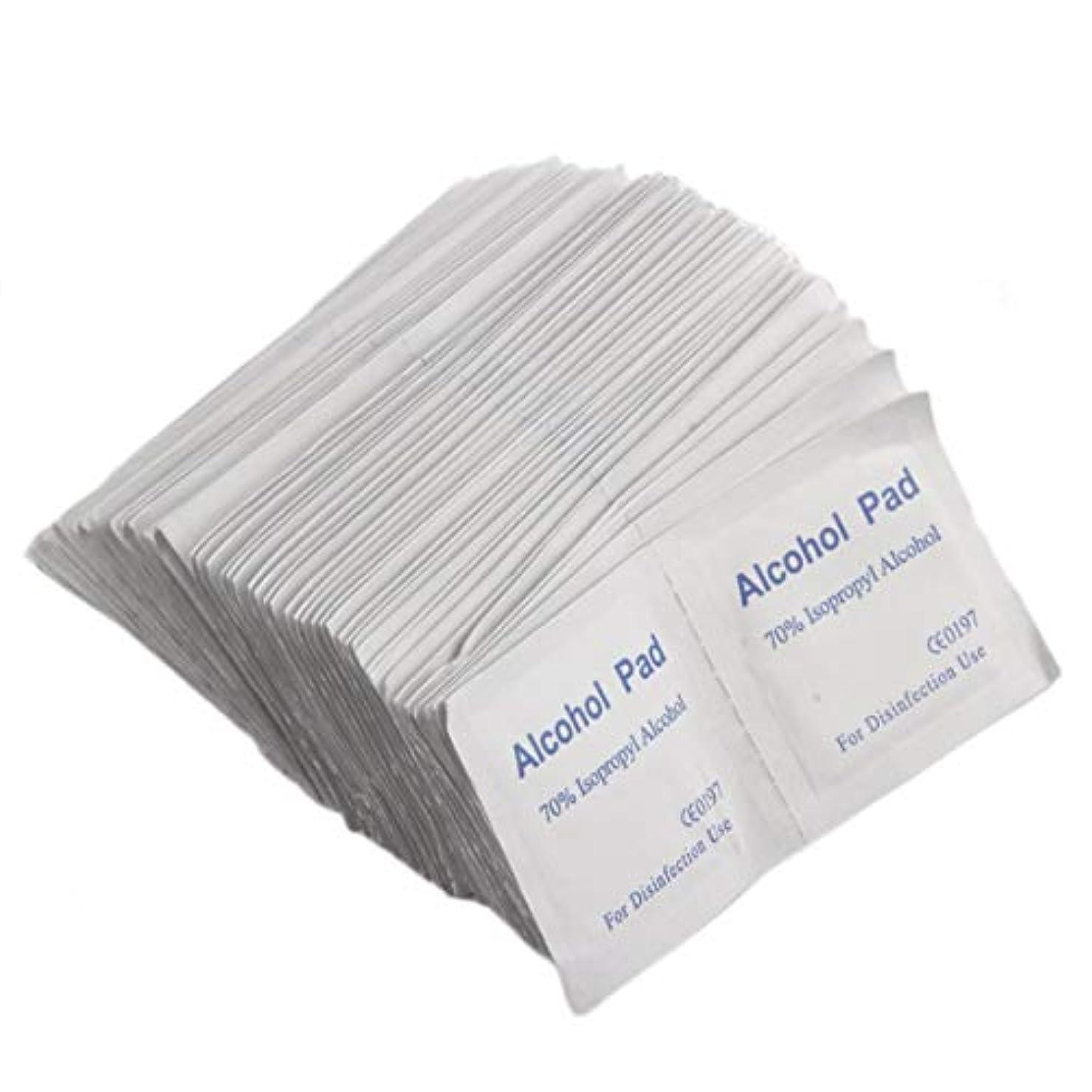 慢事務所レンドIntercorey 100ピース/ボックスプロフェッショナルアルコールワイプパッド医療綿棒サシェ抗菌ツールクレンザークリーニング不織布紙