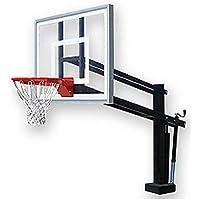 最初チームHydroShot IIステンレスsteel-acrylic調整可能プールサイドバスケットボールsystem44、ブラック