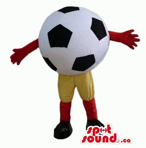 黒と白のサッカー広告SpotSoundマスコットカナダの衣装仮装