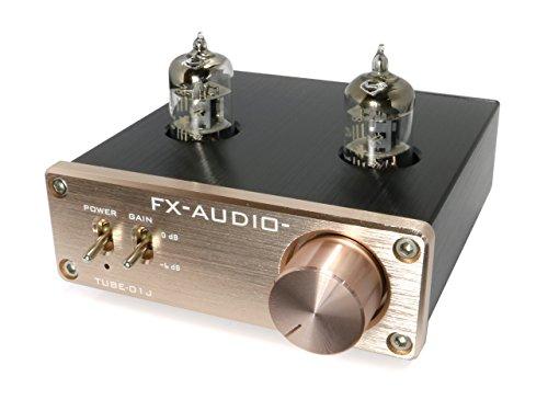 FX-AUDIO- TUBE-01J 真空管プリアンプ(ラインアンプ) NFJオリジナルモデル (ブロンズゴールド)