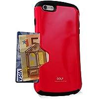 フォンフォーム[PhoneFoam] Iphone 6 Plus ケース・カバースリム カードホルダー Golf Original (Black/Red)