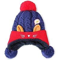 inverlee幼児用冬ベビー暖かいHairballキャップイヤーフラップビーニー帽子イヤーフラップビーニーキャップベレー帽