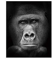 LovetheFamily 猿の頭 数字油絵 数字キット塗り絵 手塗り DIY絵 デジタル油絵 ホーム オフィス装飾 40x50cm (フレーム付き)